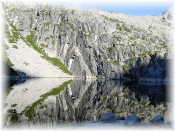 The Gothic Wall at Upper Canyon Creek Lake in the Trinity Alps Wilderness